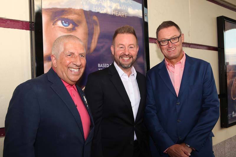 Pete Price, Robert Willis and Jeff Pope at Cilla The Musical Gala Night at the Liverpool Empire Picture by David Munn