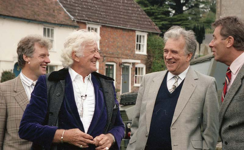 Four key cast members of the 1971 Doctor Who serial The Daemons reunited in 1993 for a documentary looking at the mking of the serial. Return To Devil's End featured Richard Franklin, Jon Pertwee, Nicholas Courtney and John Levene.