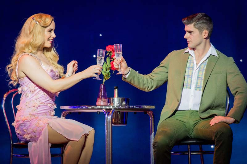 Lucie Jones and Liam Doyle in Legally Blonde Photo: Robert Workman