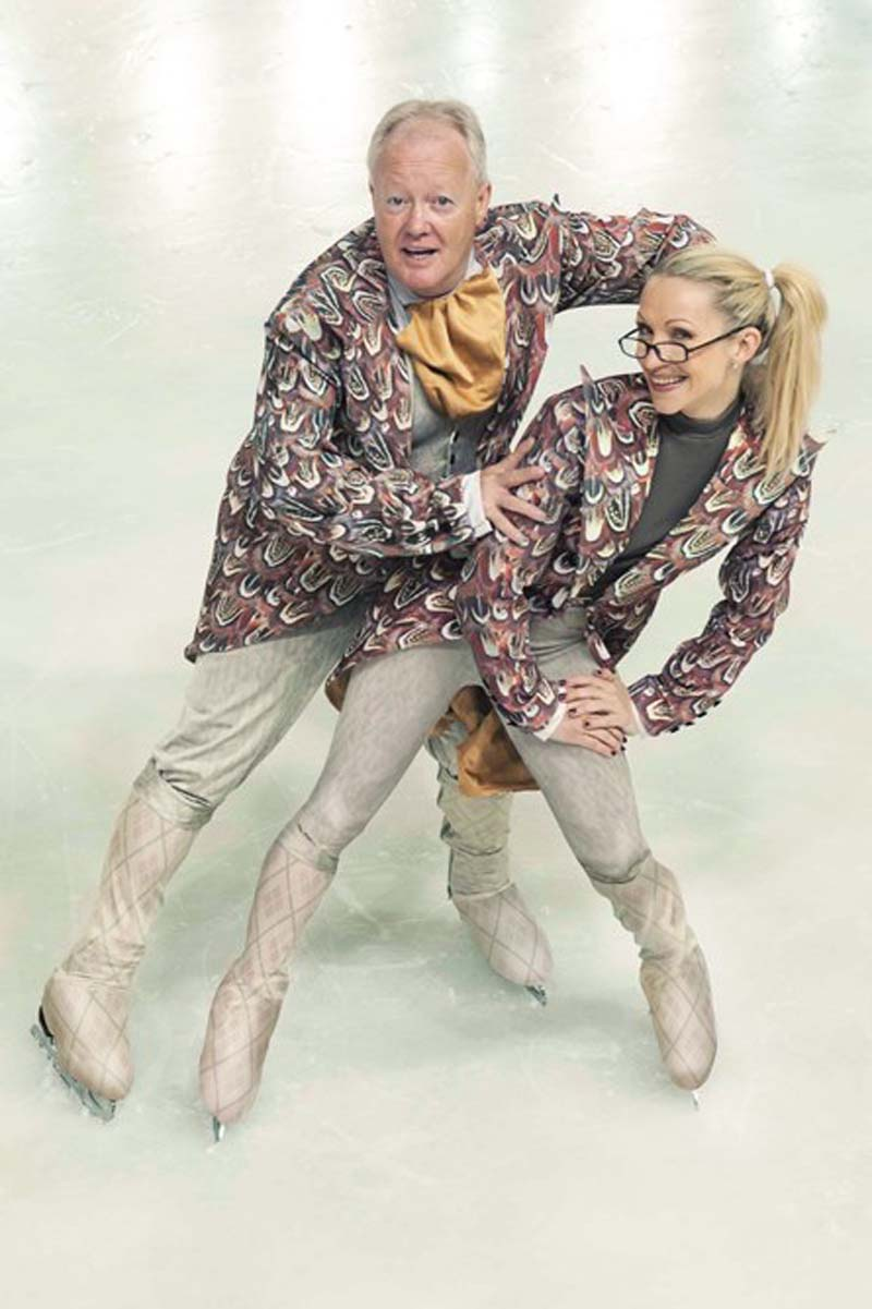 Keith Chegwin performing alongside Olga Sharutenko in The Imperial Ice Stars presentation of  The Nutcracker on Ice.