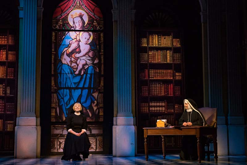 Lucy O'Byrne as Maria on stage in the UK Tour of Bill Kenwright's production of The Sound of Music