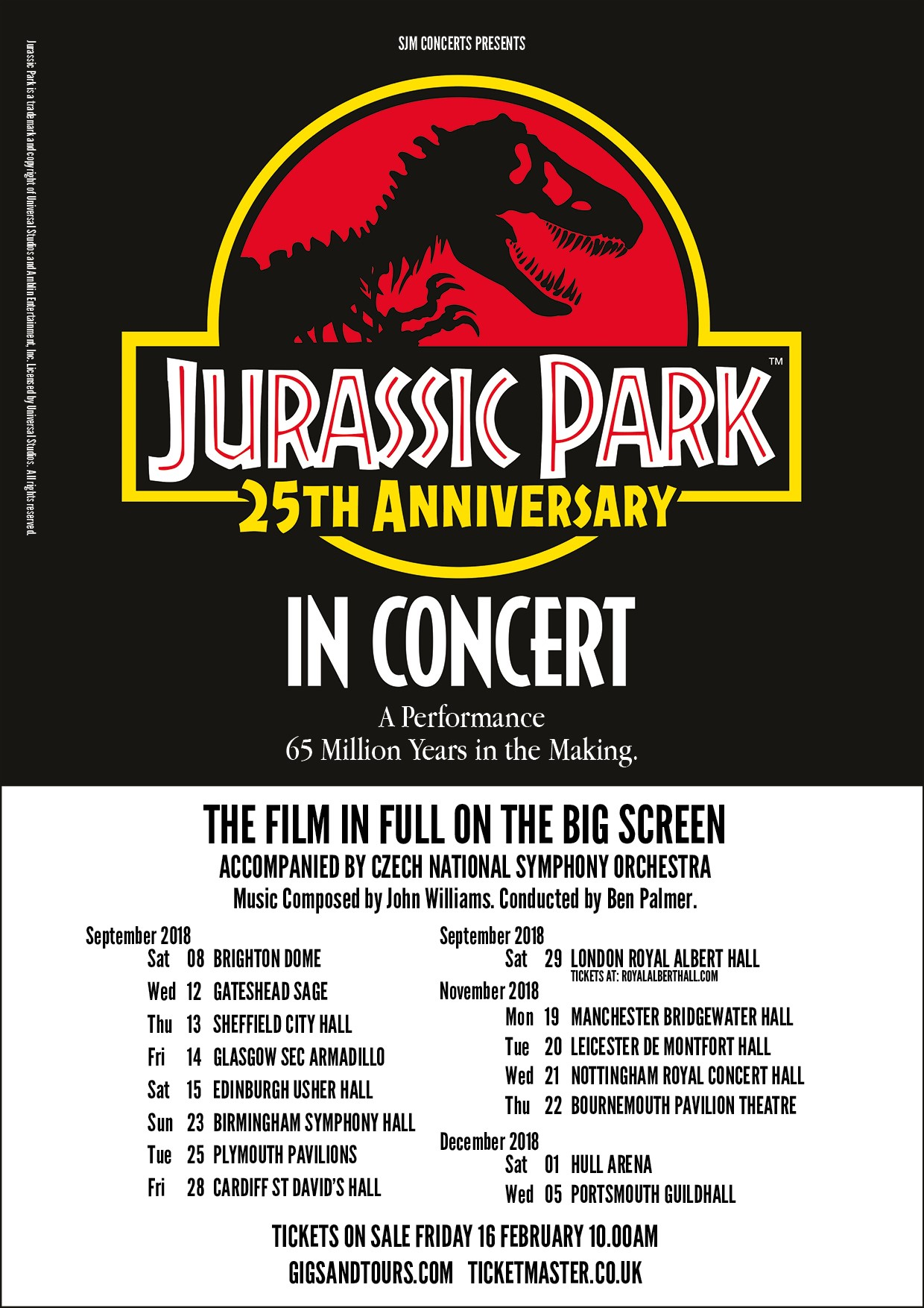 Jurassic Park Live will tour the Uk for the film's 25th anniversary