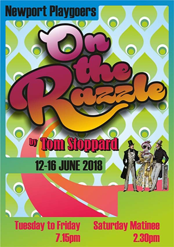 Newport Playgoer's will perform On The Razzle at Newport's Dolman Theatre before taking it to Minack