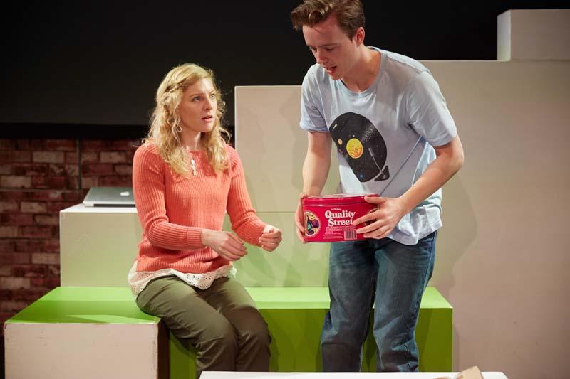 Gareth Ellis and Ceri Elen star in Theatr Genedlaethol Cymru's touring production of Estron. Photo credit: Mark Douet.