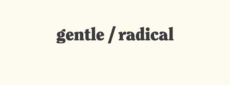 Gentle/Radical,  an exciting grassroots forum based in Cardiff