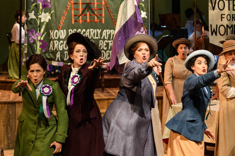 Catherine Wood, Rosie Hay, Madeleine Shaw and Paula Greenwood take to the stage with the UK tour of Rhondda Rips it Up which tours Wales and England during Summer 2018. Photo: Jane Hobson..