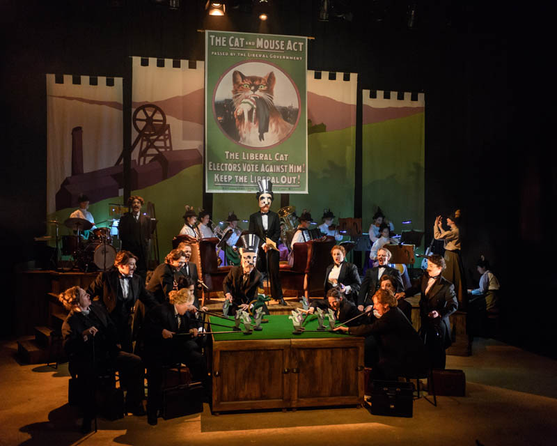 The Welsh National Opera Ladies chorus take to the stage with the UK tour of Rhondda Rips it Up which tours Wales and england during Summer 2018. Photo: Jane Hobson..