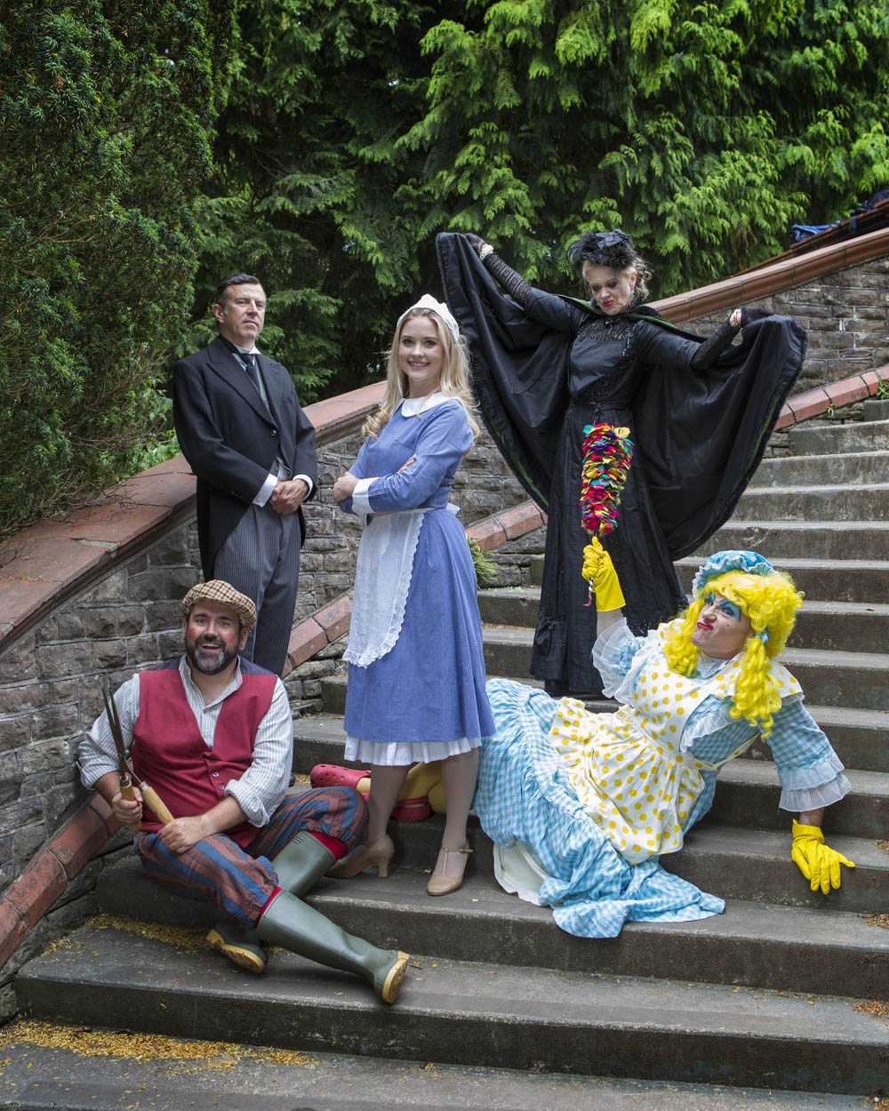 The cast of Newport Riverfront's 2018 pantomime, Sleeping Beauty at Newport's Belle Vue Park. Sleeping Beauty  runs from Tuesday 4 December 2018 to Sunday 6 January 2019