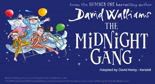 David Walliams' The Midnight Gang will be performed at Abergavenny Castle on August 17
