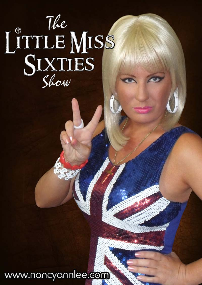 Little Miss Sixties aka Nancy Ann Lee will take to the stage with New Amen  Corner and be Bringing On Back The 60s at Swansea Grand and Congress Theatre, Cwmbran during September 2018.