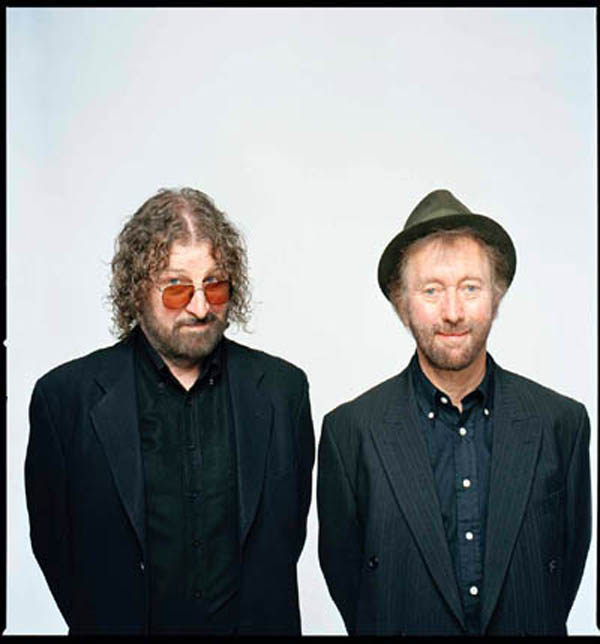 Chas Hodges with Dave Peacock in 2014.
