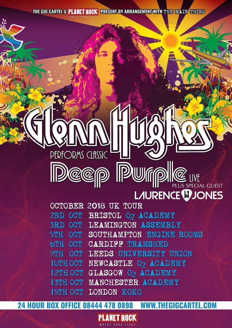 Glenn Hughes plays Cardiff Tramshed on October 6, 2018