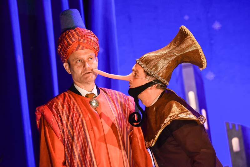 Hugh Dennis as Maurice Rose & John Marquez as Ronald Bream in  The Messiah  playing Cardiff's New Theatre from 29 October until 3 November   Photos by  Robert Day