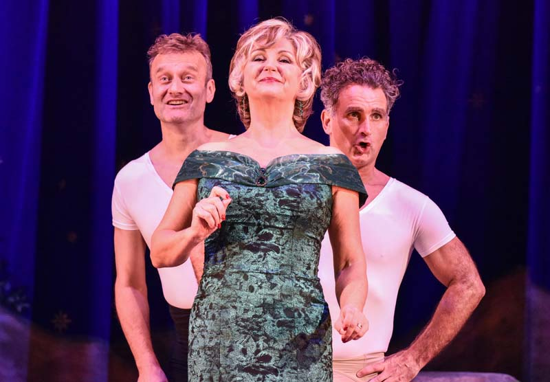 John Marquez as Ronald Bream, Lesley Garret as Mrs Leonora Fflyte and Hugh Dennis as Maurice Rose in The Messiah playing Cardiff's New Theatre from 29 October until 3 November. Pictures by Robert Day