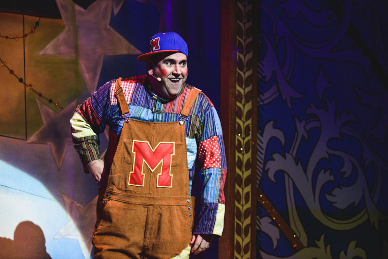 Richard Elis as Muddles Midges in the Newport Riverfront pantomime, Sleeping Beauty which runs until January 6, 2019. Photo: Kirsten McTernan