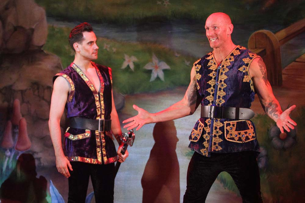 """Danny Bayne and Gareth """"Alfie"""" Thomas   in  Beauty and The Beast  at Cardiff's New Theatre from December 8 2018 - January 13 2019. All Photographs by Brian Tarr."""