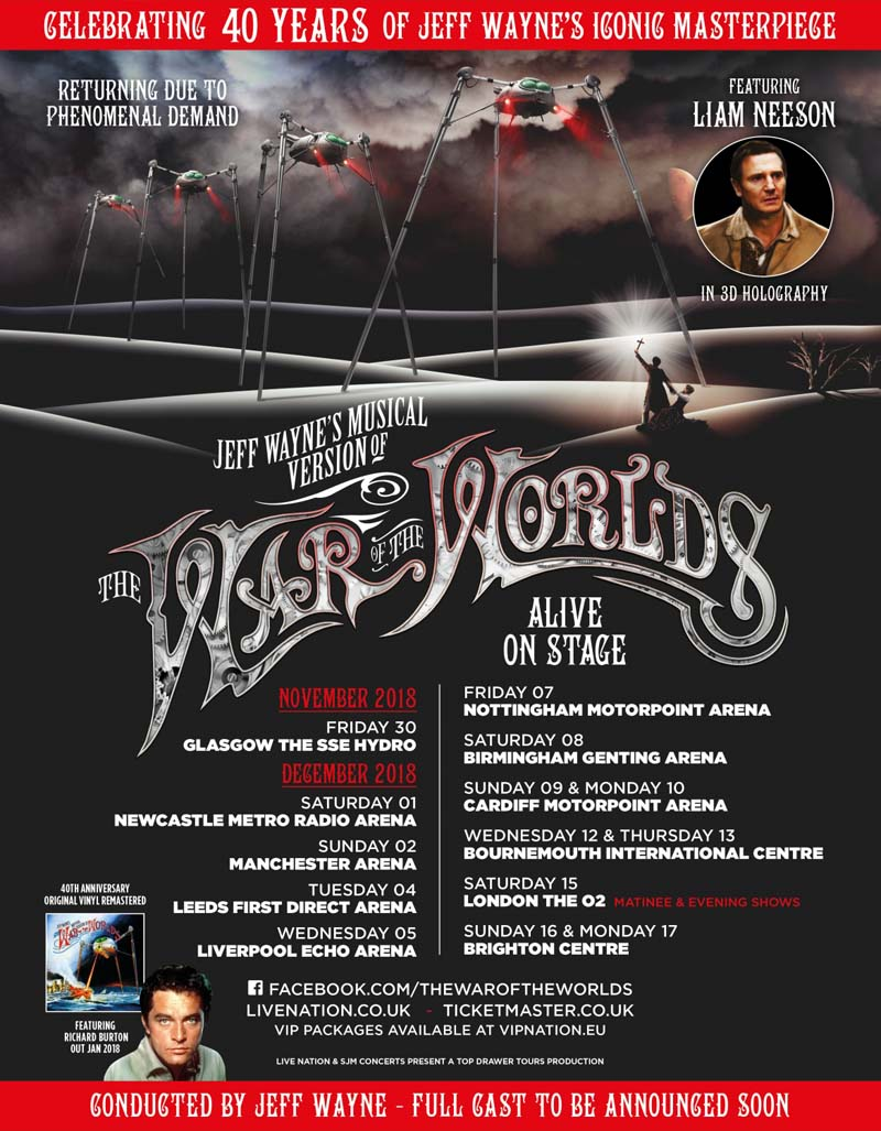 War of The worlds, Motorpoint Arena, Cardiff, December 2018