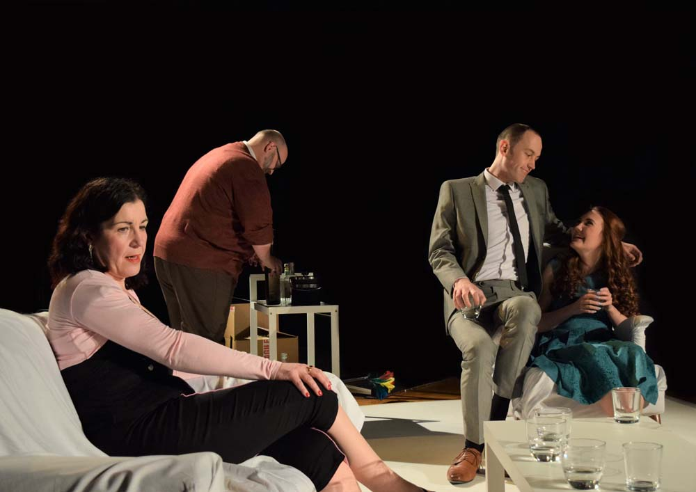 "AdHoc Theatre Company bring ""Who's Afraid Of Virginia Woolf?"" to Newport's Dolman Theatre. Photographs by Joe Marshall."