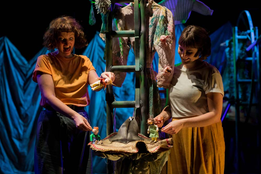 A scene from Soap Soup Theatre's family show,  The Selfish Giant  based on a story by Oscar Wilde.