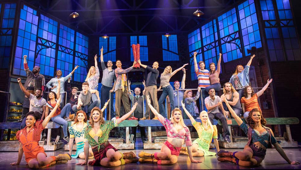 The cast of Kinky Boots which plays at Bristol Hippodrome until March 9, 2019