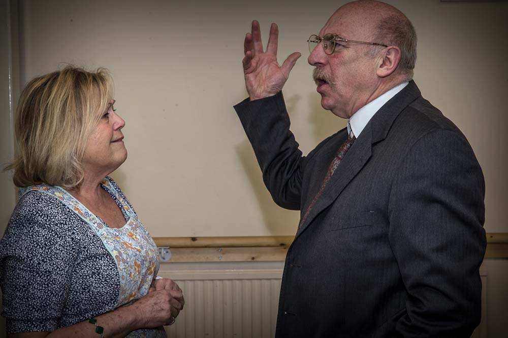 Eileen Symonds and Steve Saunders in Newport Playgoers presentation of Death of a Salesman which runs at Newport's Dolman Theatre from April 9-12. Photographs copyright: Paul Johnson 2019