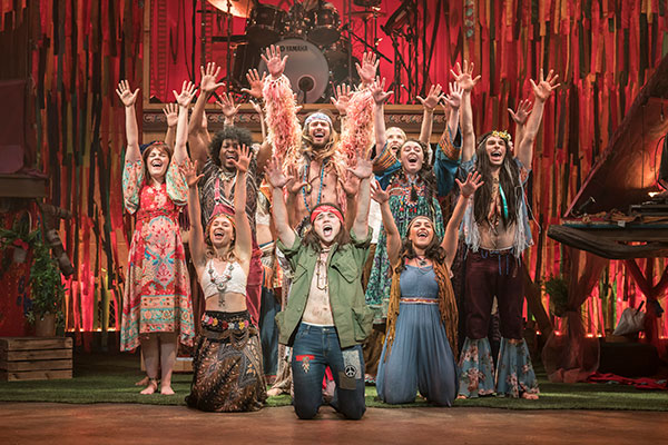 The cast of Hair The Musical on its 50th anniversary tour which runs at Cardiff's New Theatre from April 15-20, 2019.