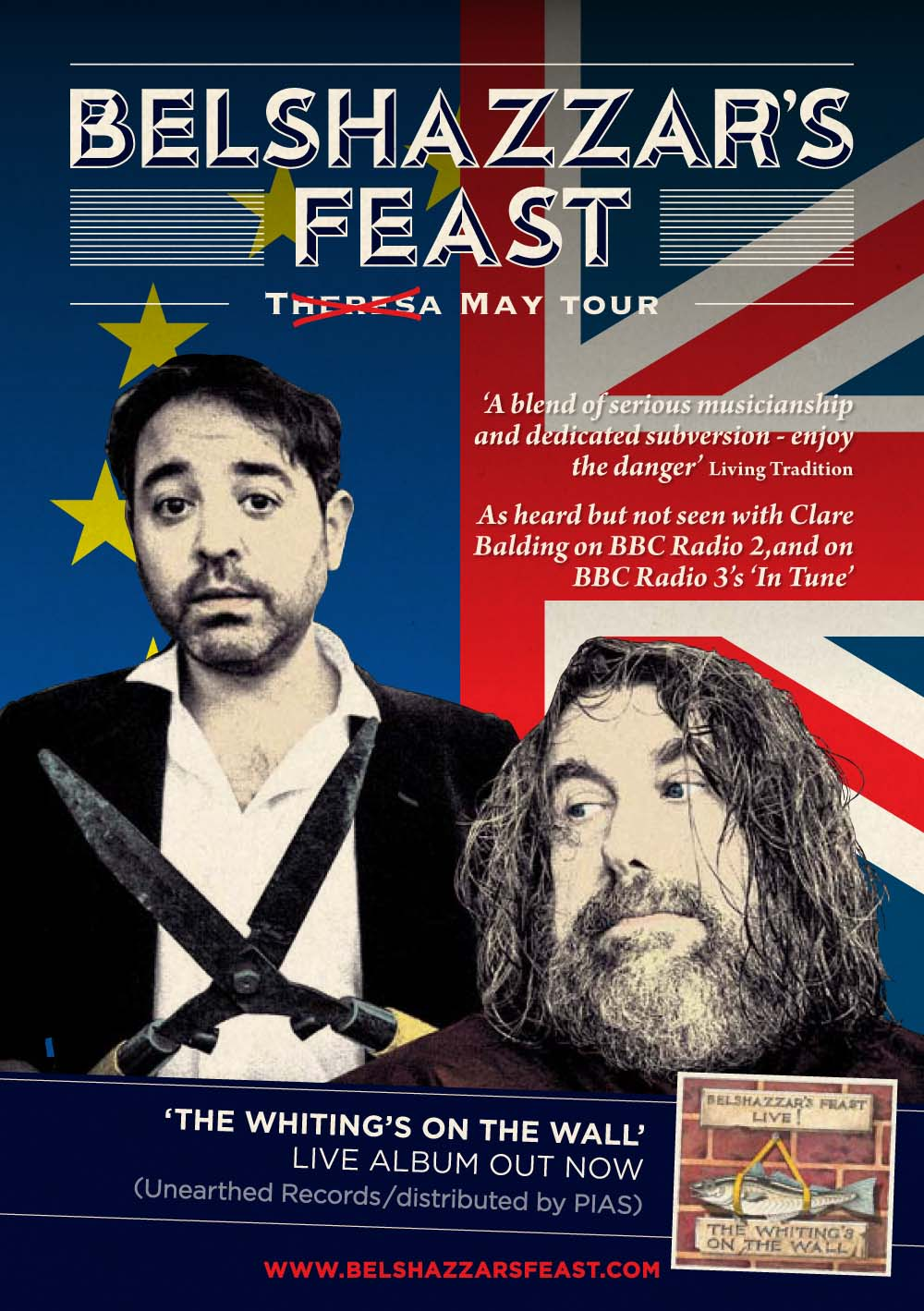 Belshazzar's Feast return to Wales on May 24, 2019 at Neuaddydderwen, Rhosygilwen, Pembrokeshire