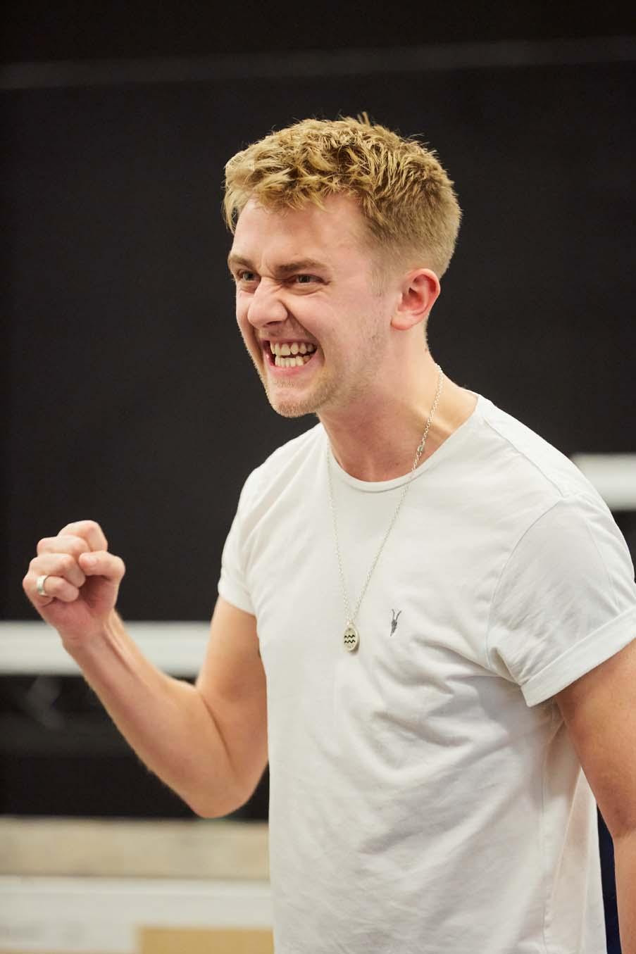 Tim Preston (Josh) in rehearsal for Lose Yourself at The Sherman Theatre . Picture: Mark Douet.