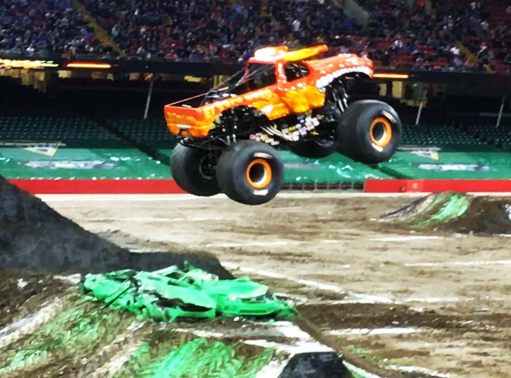 El Toro Loco in action at Monster Jam  in Cardiff