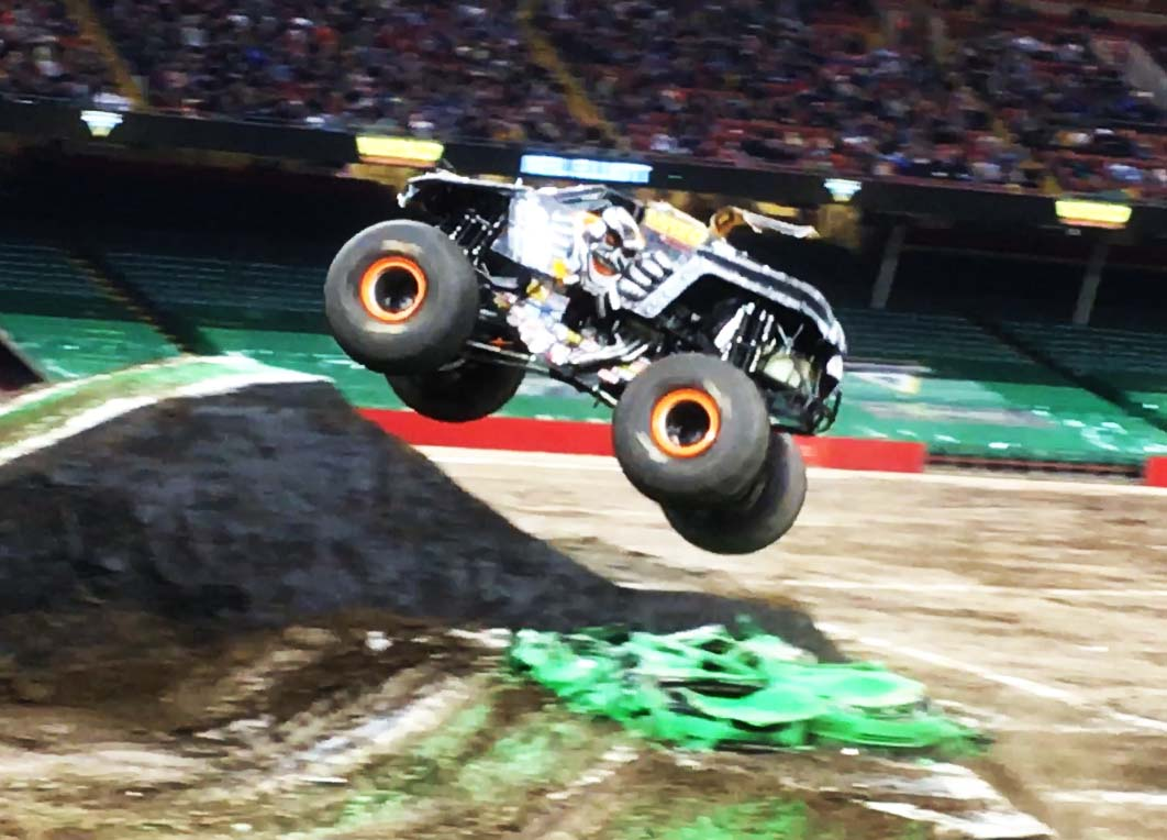 Max-D in action at Monster Jam 2019 in Cardiff.