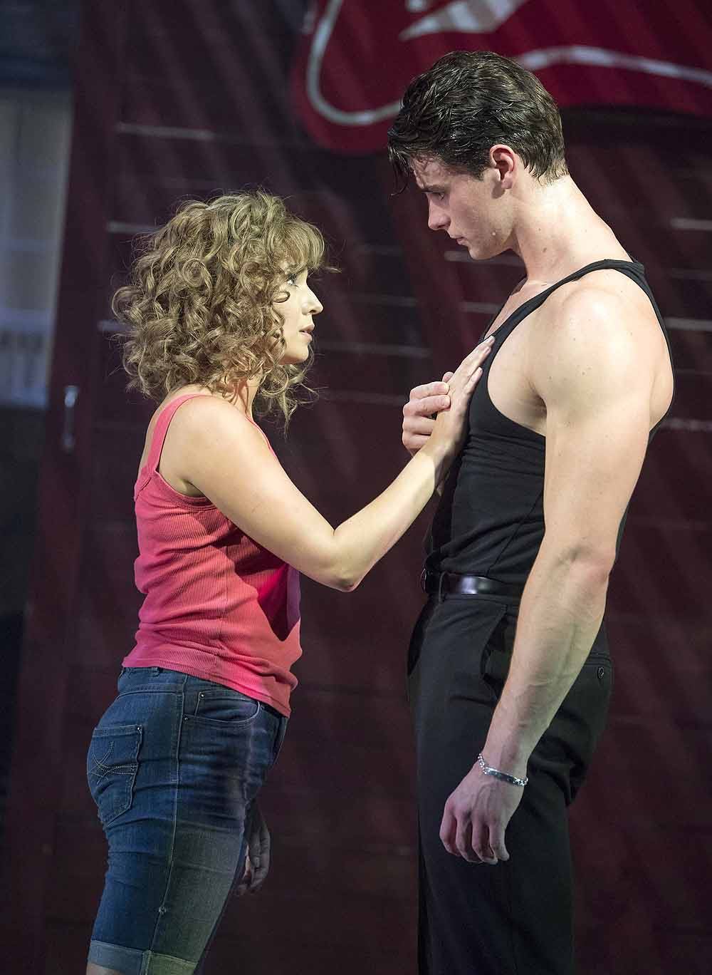 Kira Malou (Baby) Michael O'Reilly (Johnny) in Dirty Dancing - The Classic Story on Stage; Photo credit Alastair Muir
