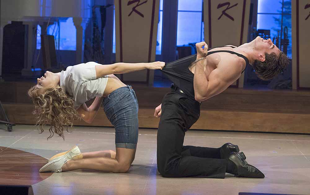 Kira Malou as Baby and Michael O Reilly as Johnny in  Dirty Dancing - The Classic Story on Stage ; Photo credit Alastair Muir
