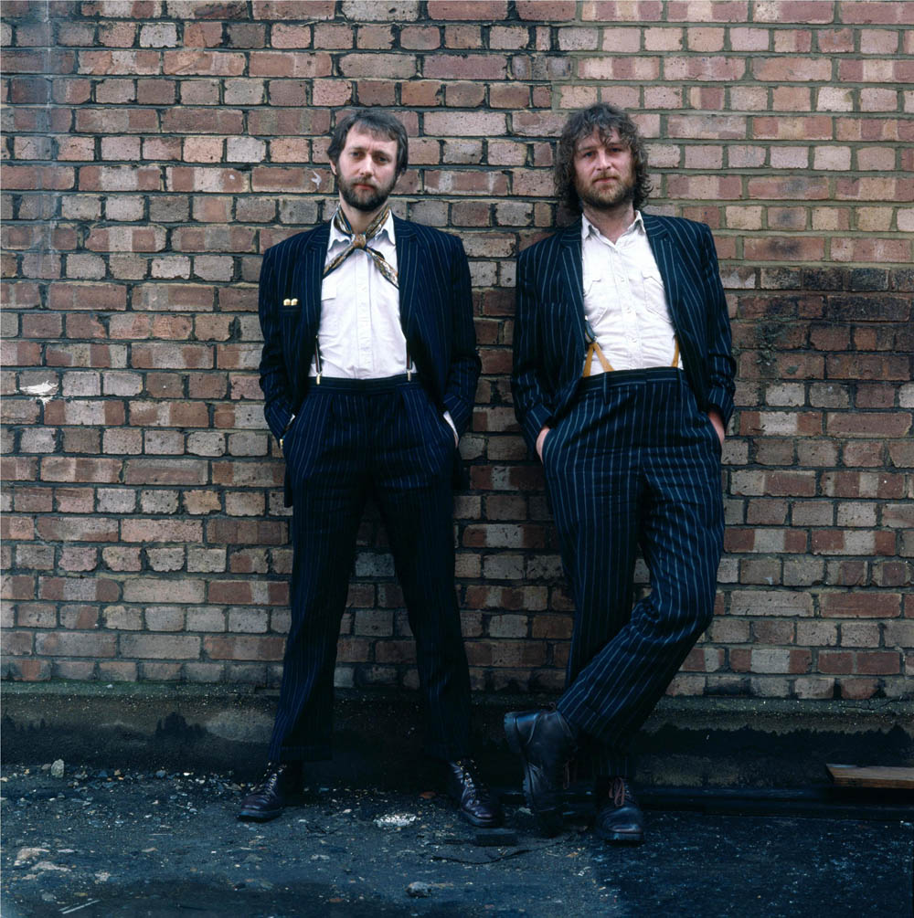 Chas & Dave pictured in the 1980s