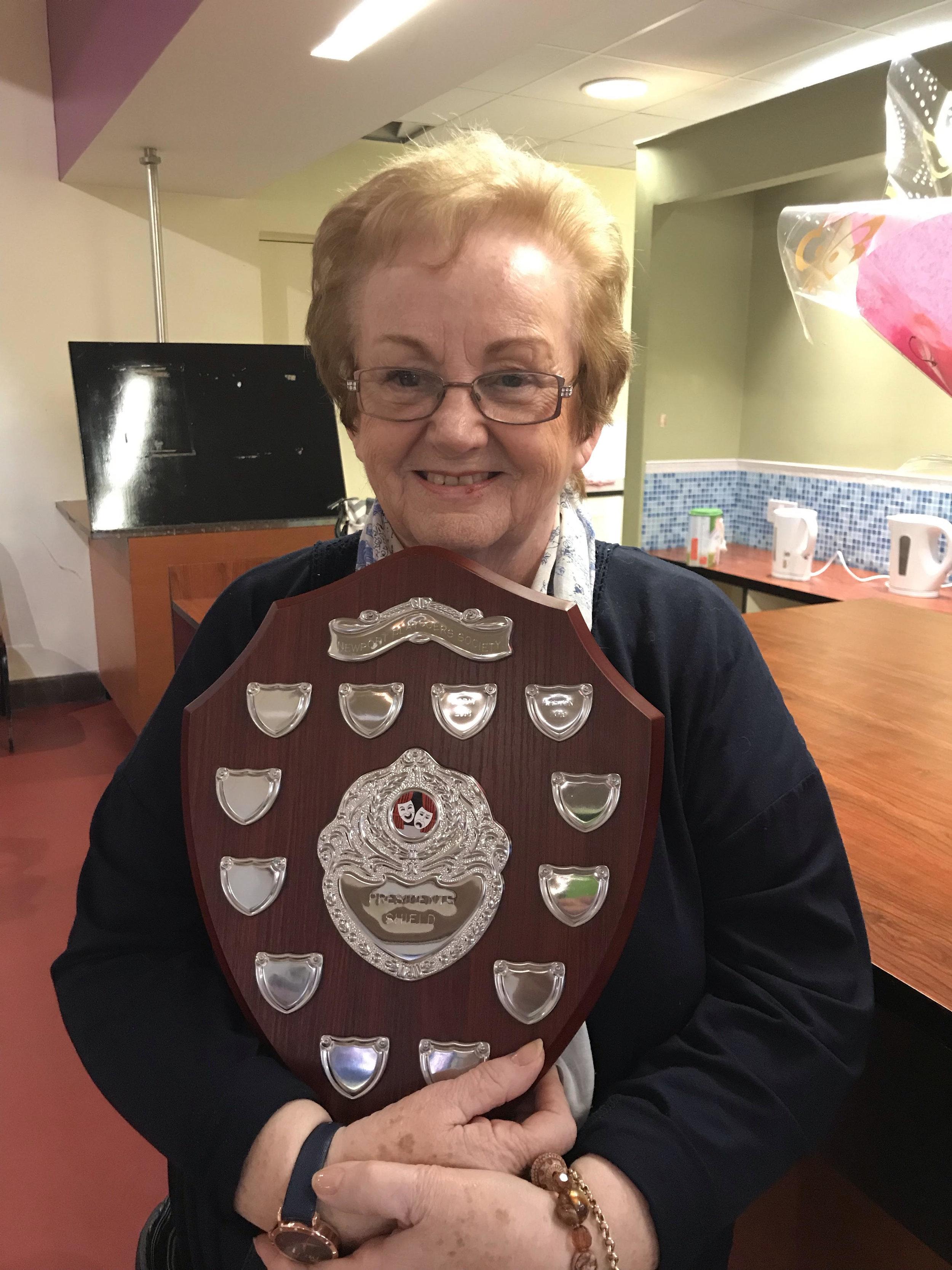 Audrey Aston with the Presidents Award . Photo: Clare Drewett
