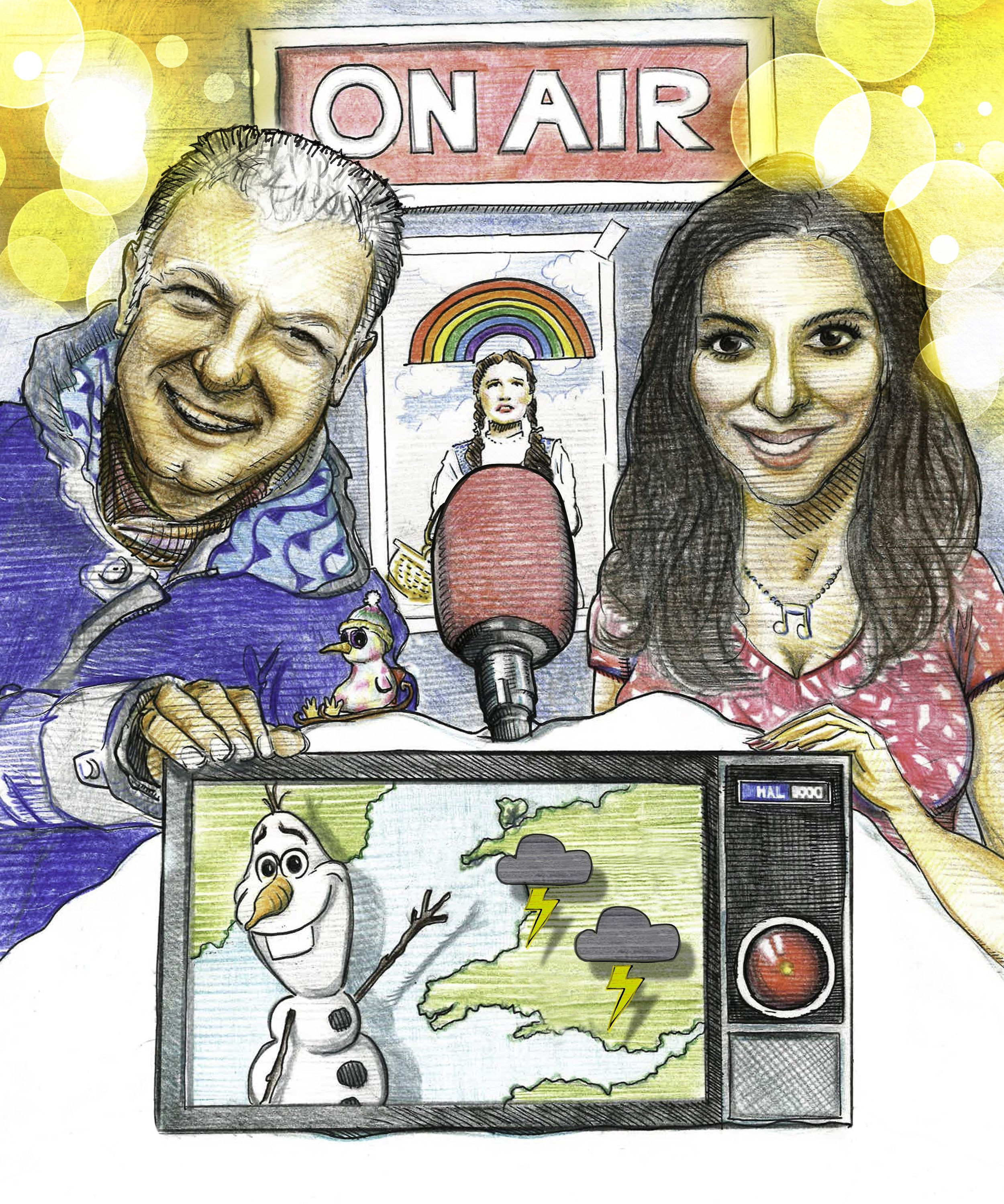 BBC Weather stars Derek Brockway and Behnaz Akghar host the Family Prom at St David's Hall on July 21, 2019.