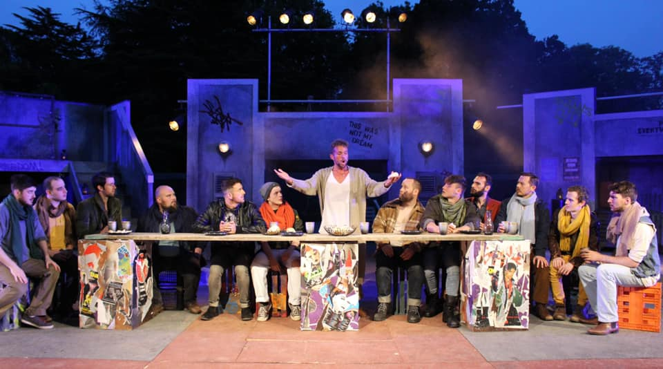 A scene from Everyman Theatre's production of Jesus Christ Superstar, part of Cardiff Open air Theatre Festival 2019 and running Cardiff's Sophia Gardens from July 27 to August 3.