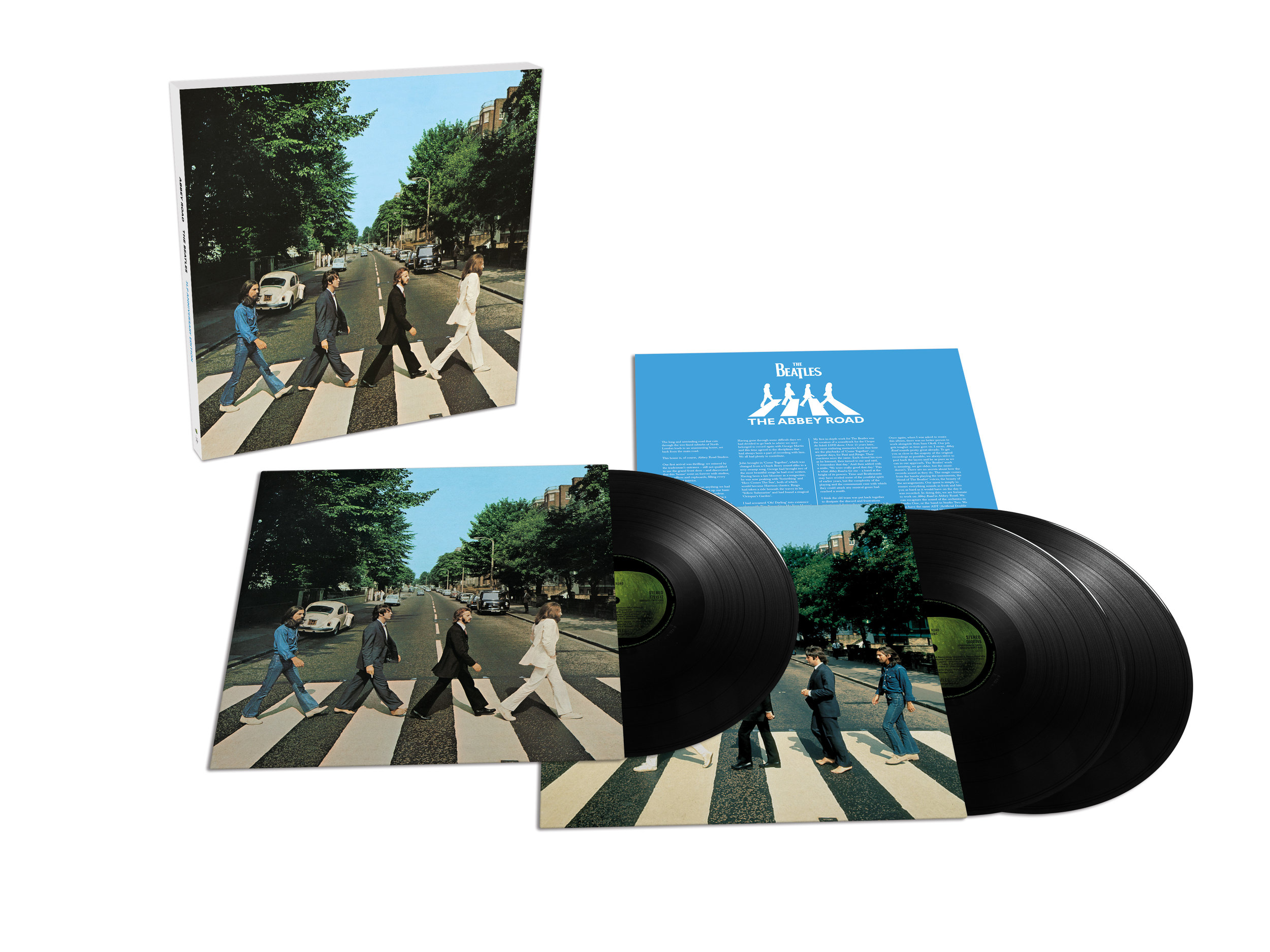 Abbey Road 's limited-edition Deluxe vinyl box set features all 40 tracks from the Super Deluxe collection on three 180-gram vinyl LPs.