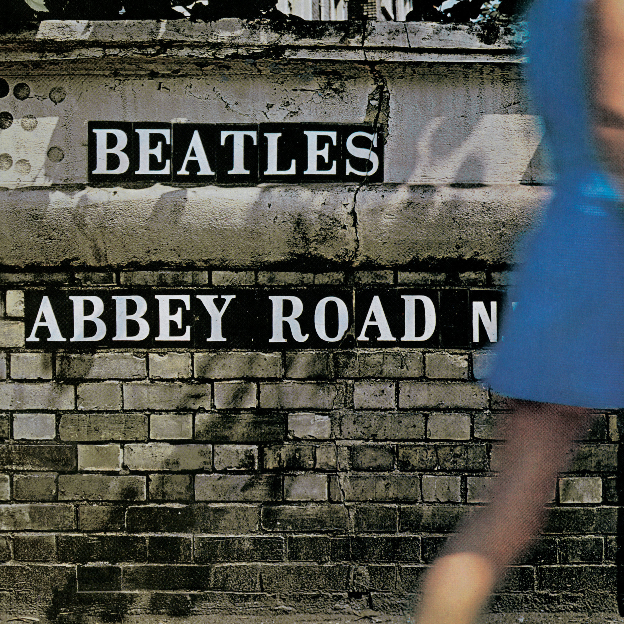 The rear cover artwork for The Beatles 1969 album,  Abbey Road