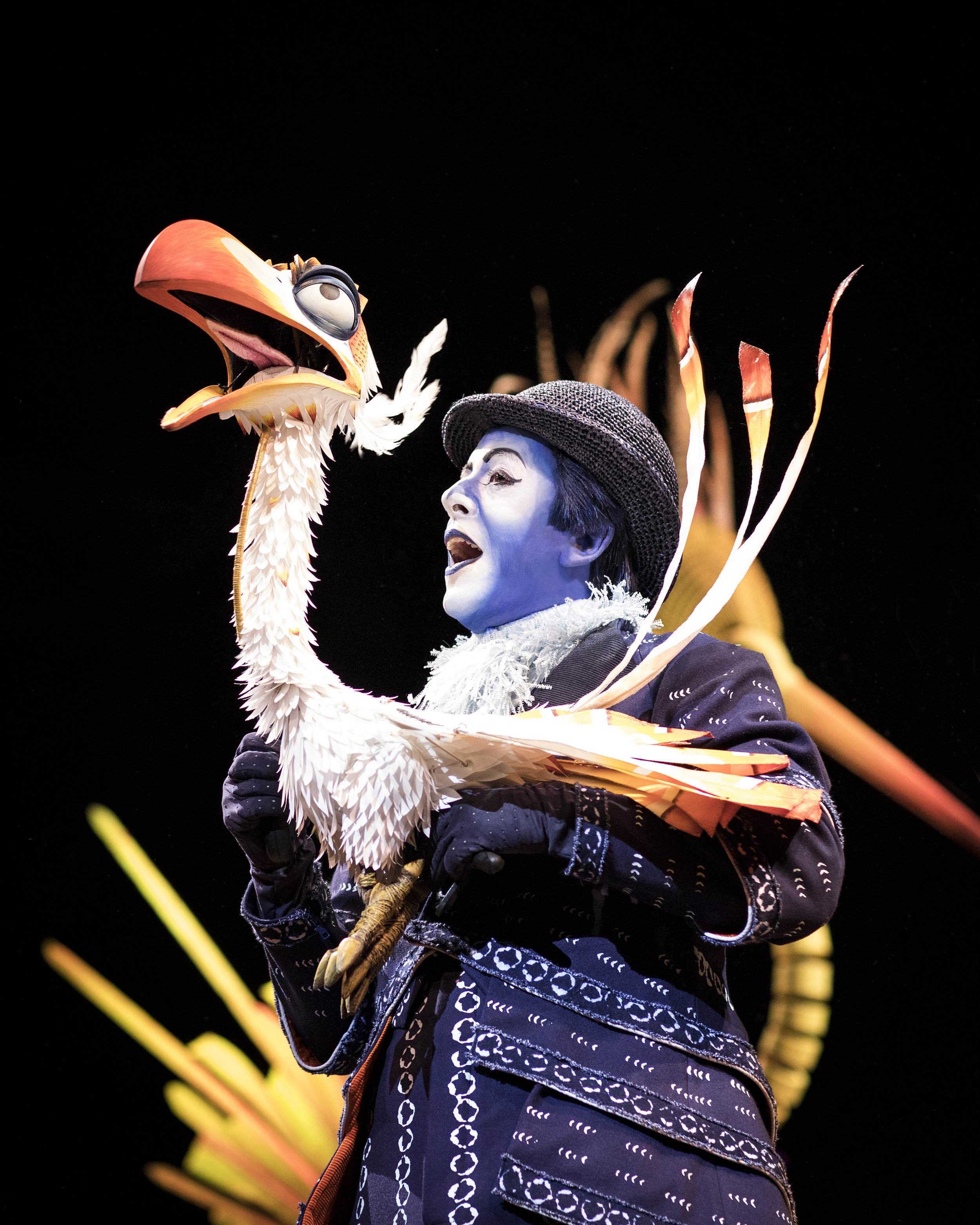 Gary Jordan as Zazu in the 2017 stage presentation of The Lion King Photo: Helen Maybanks ®Disney