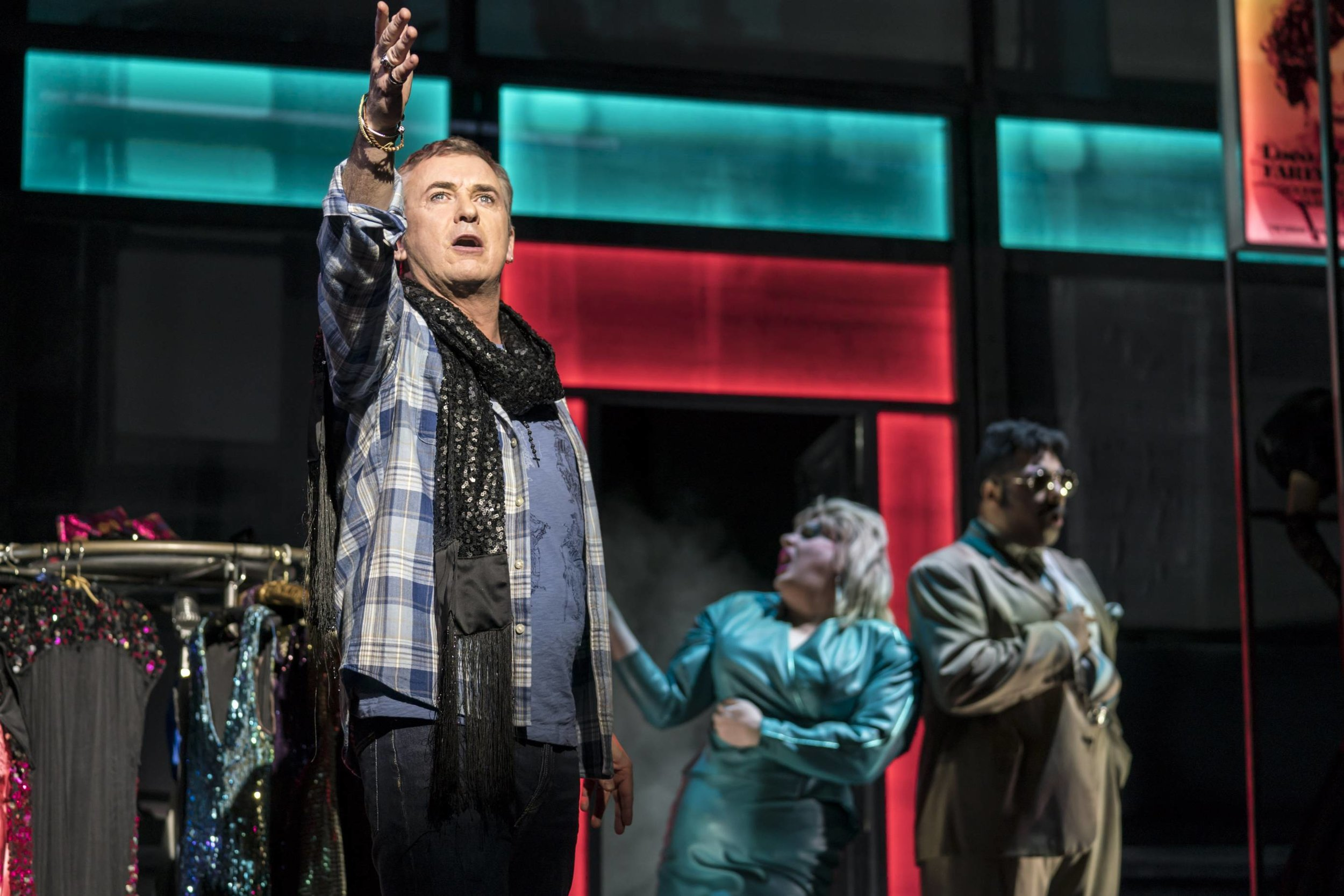Shane Richie as Hugo in Everybody's Talking About Jamie which also stars Layton Williams (top picture). The musical embarks on its first UK tour in 2020 and will play Wales Millennium Centre in May.