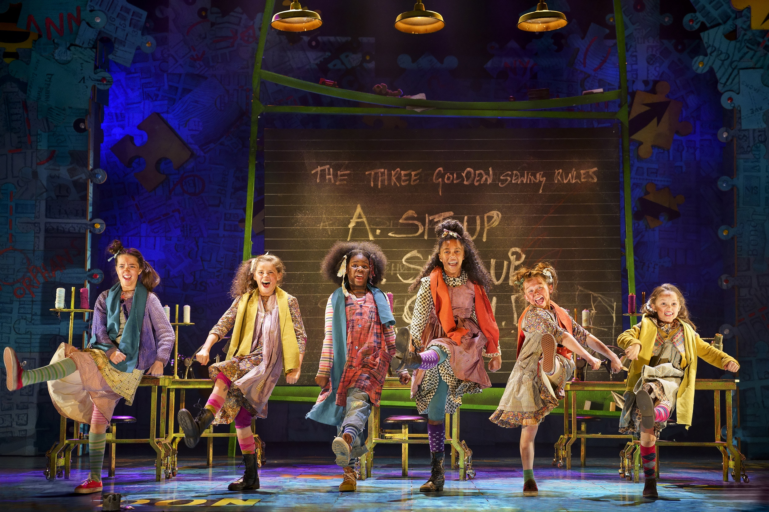 Ensemble cast in Annie The Musical which plays Wales Millennium Centre from August 19-31, 2019. Photo Paul Coltas