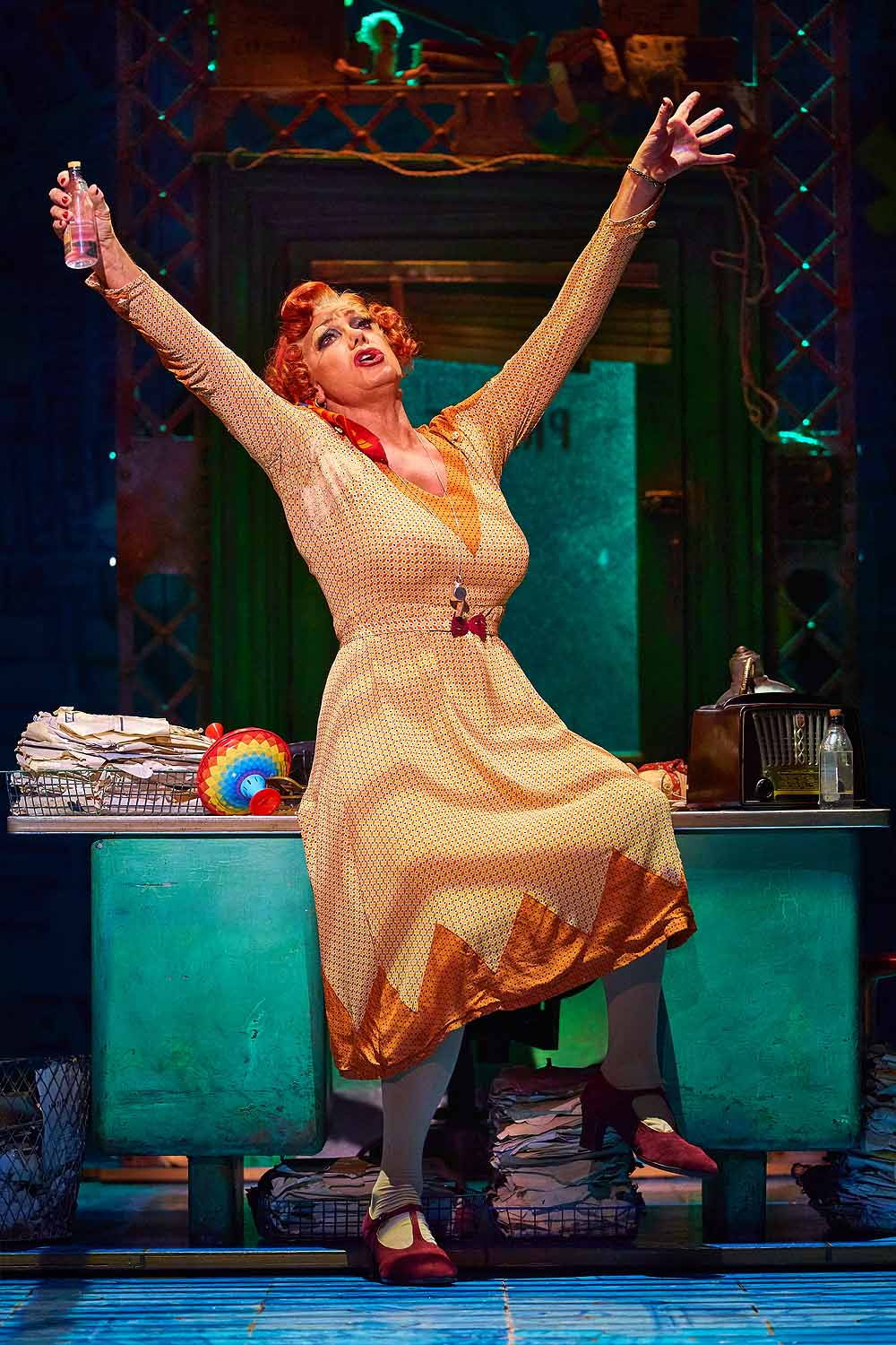 Craig Revel Horwood as Miss Hannigan in Annie The Musical which plays Wales Millennium Centre from August 19-31, 2019. Photo Paul Coltas