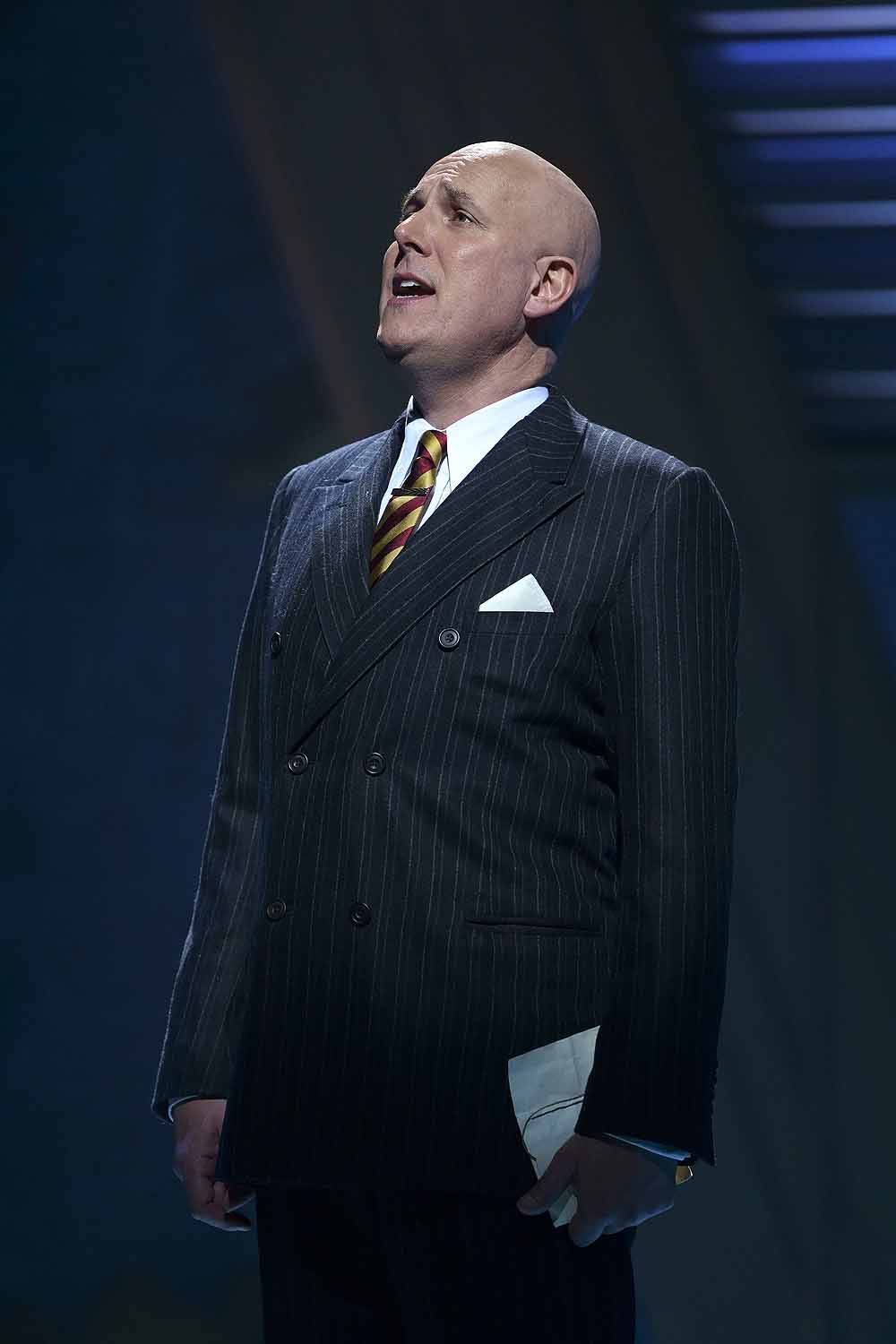 Alex Bourne as Daddy Warbucks in Annie The Musical which plays Wales Millennium Centre from August 19-31, 2019. Photo Paul Coltas