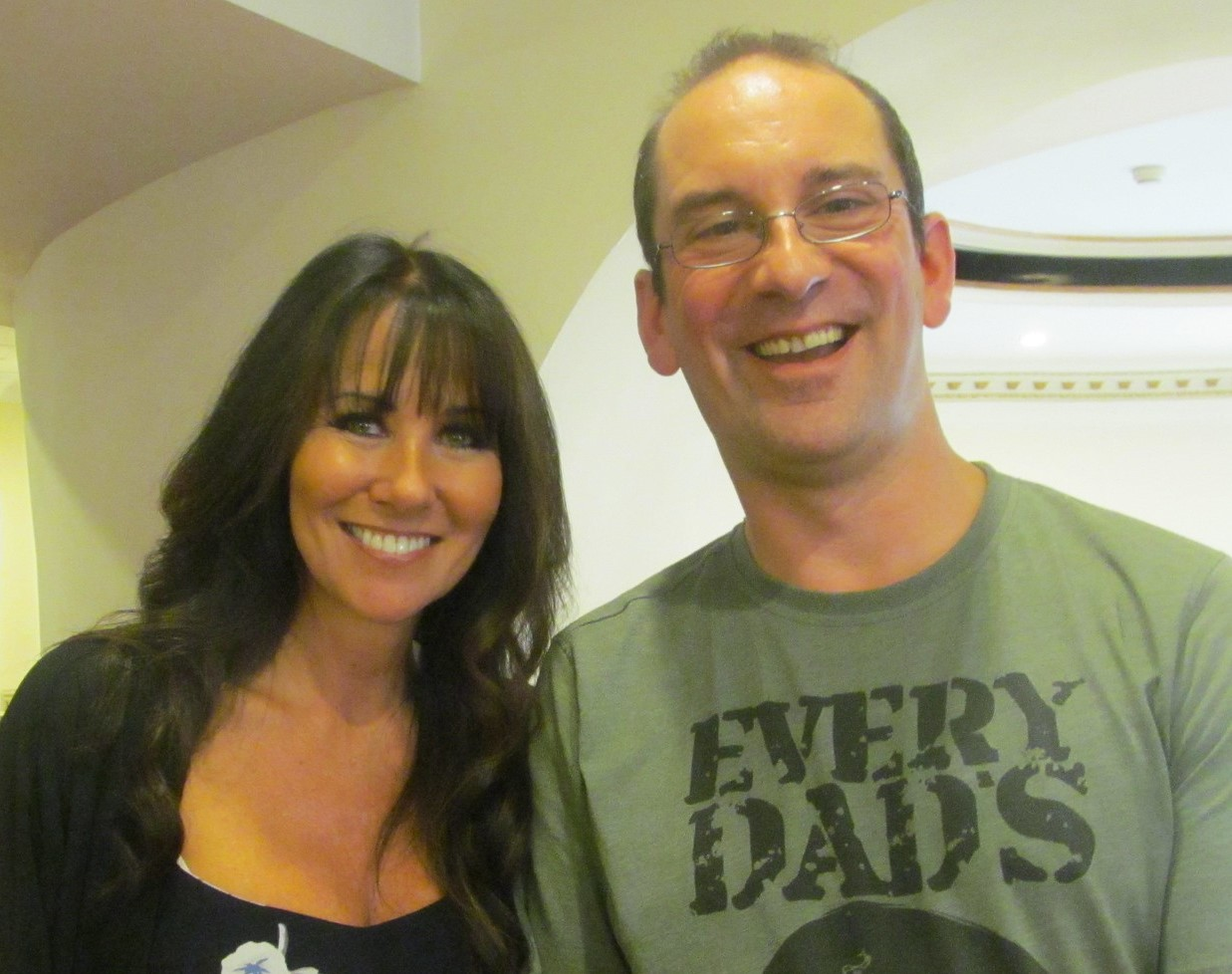 Andy Howells pictured with actress, Linda Lusardi.