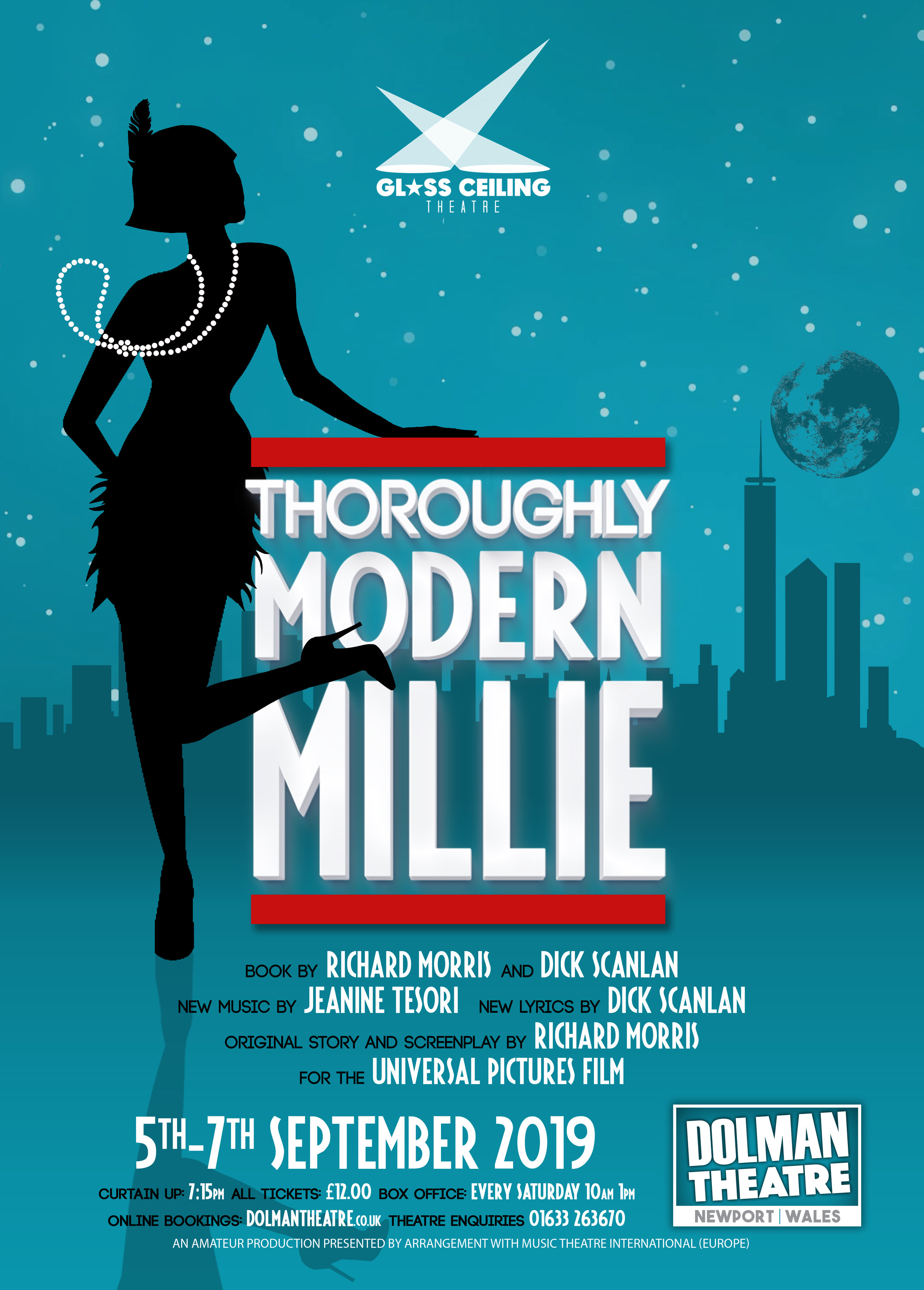 Glass Ceiling Theatre present Thoroughly Modern Millie at Newport's Dolman Theatre from September 5-7, 2019.