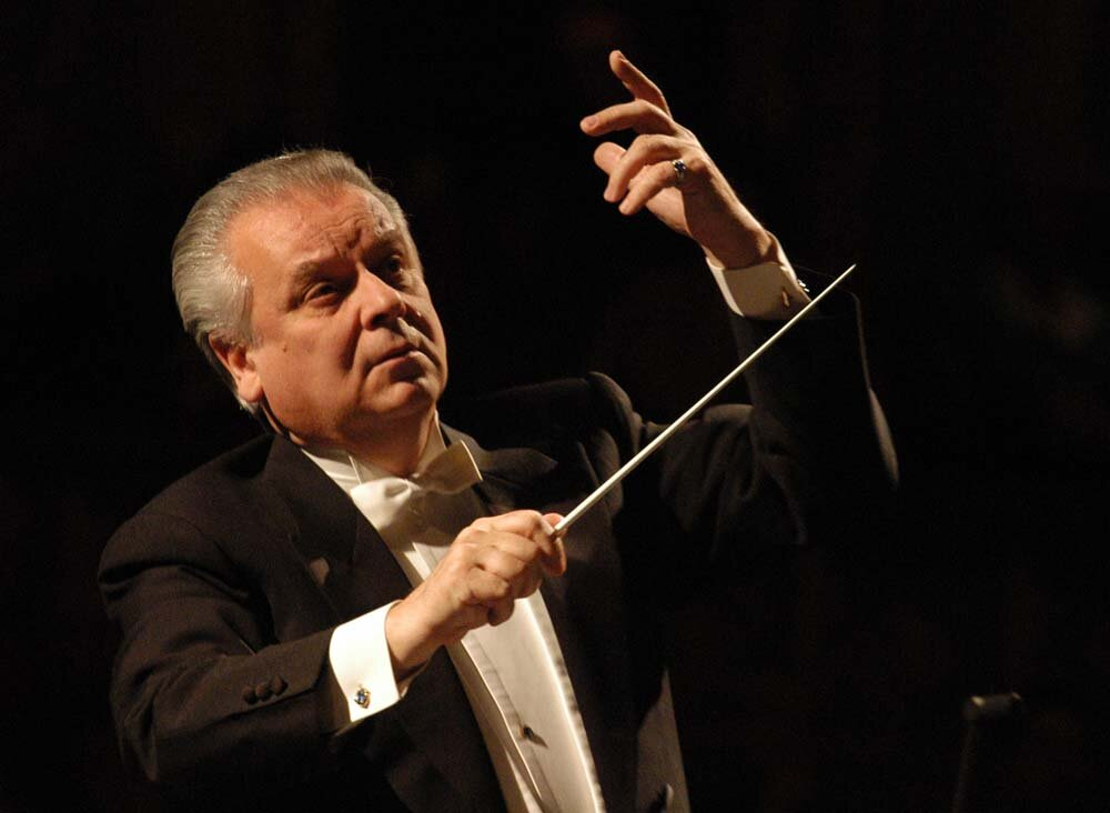 Yuri Simonov conducts Moscow Philharmonic Orchestra on Wednesday October 9.
