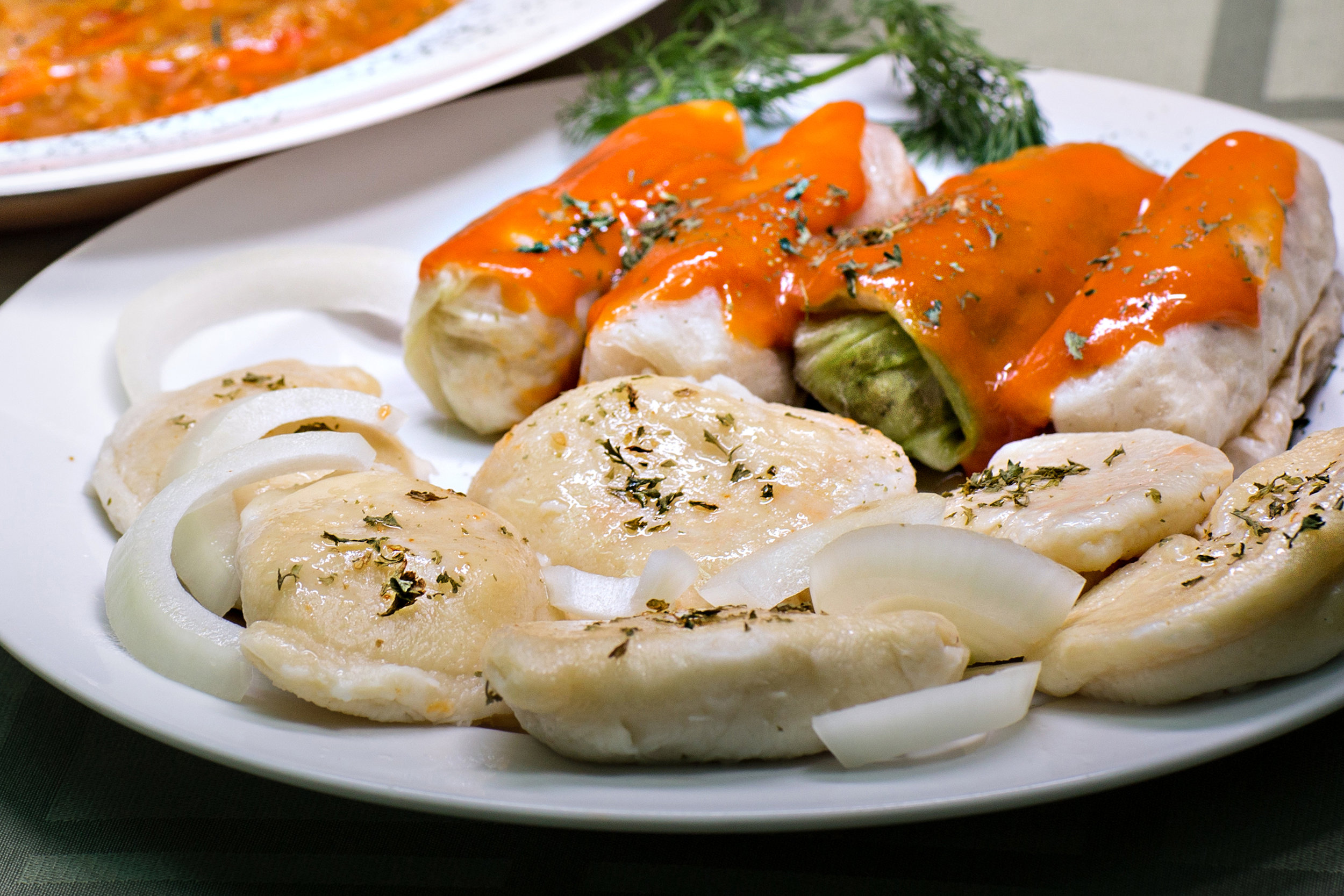 Perogies and Cabbage Rolls -