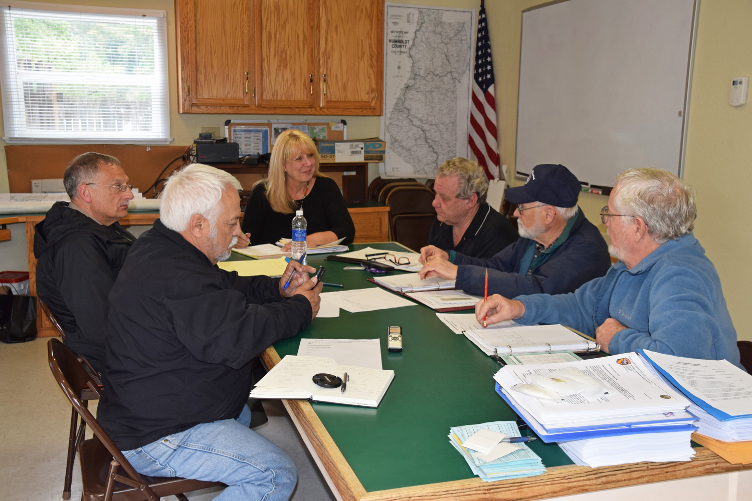Members of the Southern Humboldt Emergency Preparedness Team met on April 22. (Sandy Feretto)