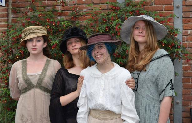 Maya Quiggle as Ann Howard, Jessica Louth as Mrs English, Aryanna Schmollinger as Felicity English and Chloe Young as Constance English. (Saundra Stephenson)