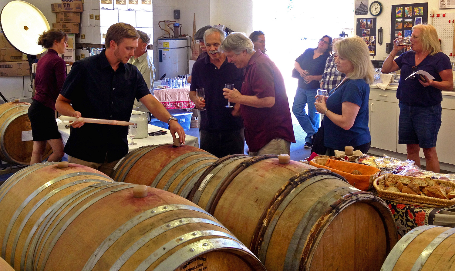 Whitethorn Winery, shown during a tasting last year, will support Sanctuary Forest's Mattole restoration work with another Memorial Day tasting event this Saturday and Sunday from 1-5 p.m. (Photo courtesy of Whitethorn Winery)